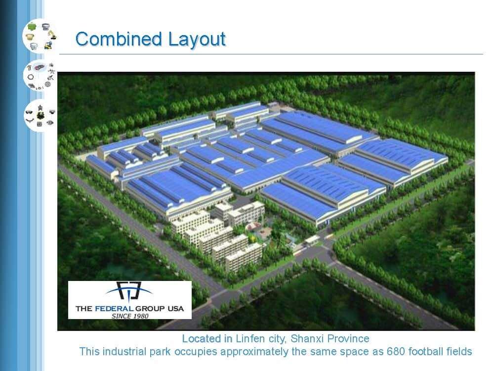 TFG USA / HX Facility located in Shanxi, China